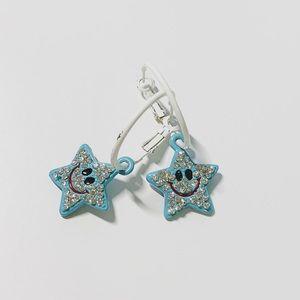 Blue Star-Shaped Earrings